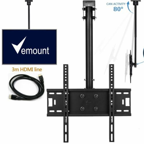 Full Motion Ceiling Hanging TV Wall Mount Bracket 24 30 37 4