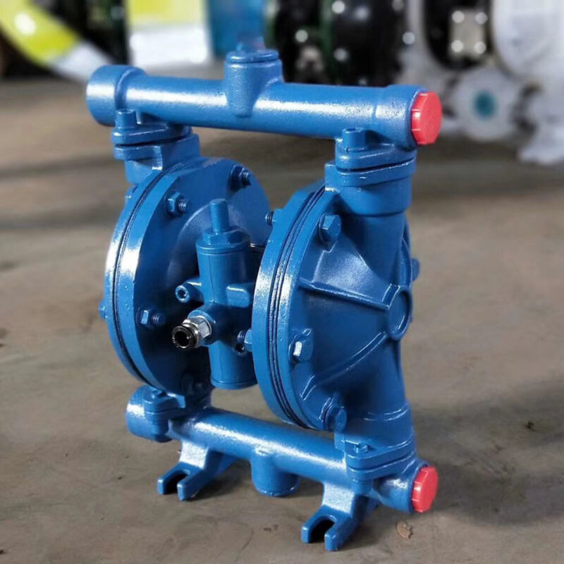 """Air-Operated Double Diaphragm Pump 12GPM 115PSI 1/2"""" Inlet & Outlet QBK-15 Blue"""