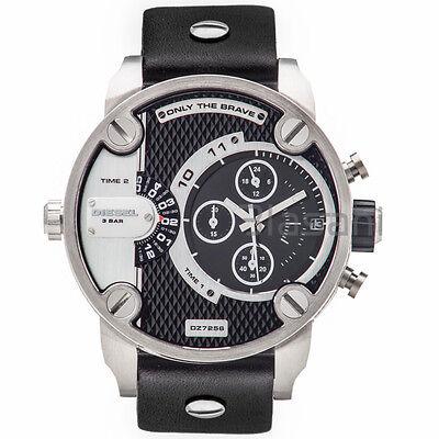 Diesel Original DZ7256 Little Daddy Men's Chronograph Black Leather Watch