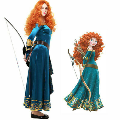 Brave Costume (Exclusive Brave Princess Merida Adult Dress Cosplay Costume Fancy)
