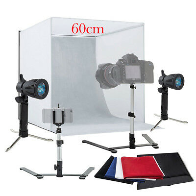 """Photo Studio 24"""" Photography Lighting Tent Kit Backdrop Cube In A Box Mini Stand"""