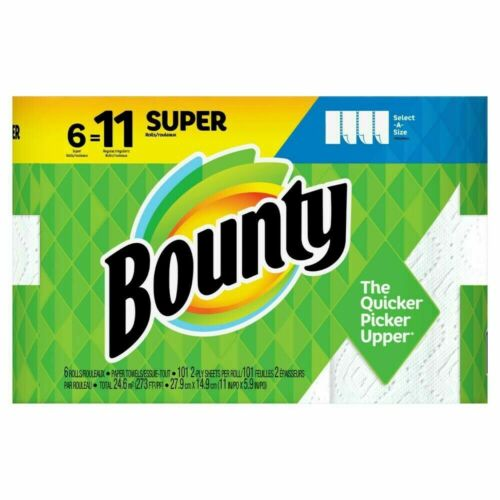 Bounty 6=11 Select a Size Paper Towels