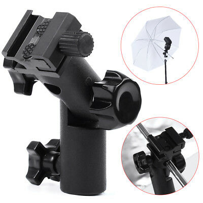 Flash Type E Hot Shoe Umbrella Holder Swivel Bracket Mount Light Stand for DSLR