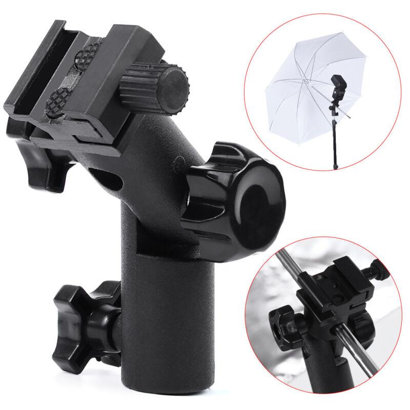 Swivel Flash Hot Shoe Bracket Mount Light Stand Type E Umbrella Holder For DSLR