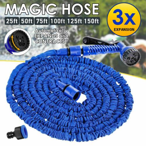 75-200FT Water Magic Stretch Hose Pipe Expanding Compact Garden Car Pet Washing