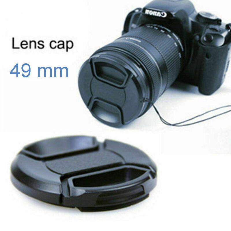 49mm Plastic Snap-On Front Lens Caps Cover Hood for Canon Nikon SLR DSLR Camera