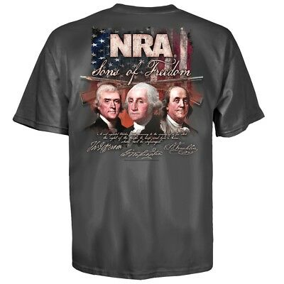 Nra National Rifle Association Sons Of Freedom T Shirt New 2Nd Amendment M   3Xl