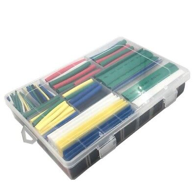 Heat Shrink Tubing Cable Wire Wrap Assortment Tube Electrical Connection 385 Pcs