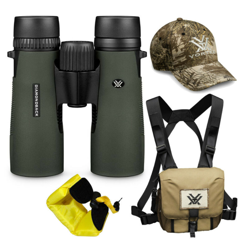 Vortex 8x42 Diamondback HD Roof Prism Binoculars w/Floating Strap & Vortex Hat