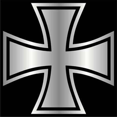 Iron Cross Decal / Sticker -Choose Color & Size- German Maltese Knights - Cross Stickers