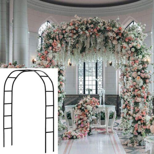 Metal Garden Arbors Wedding Arch Outdoor Indoor Pergola Black Wide Arbor