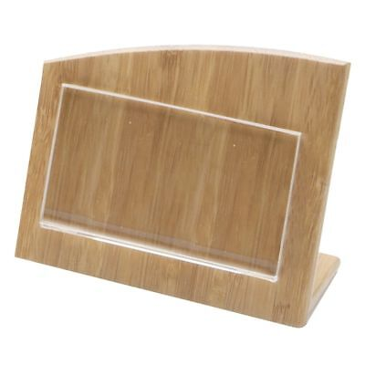 Business Card Holder Small Sign Holder Wooden - 4 12l X 2 14w X 3 34h
