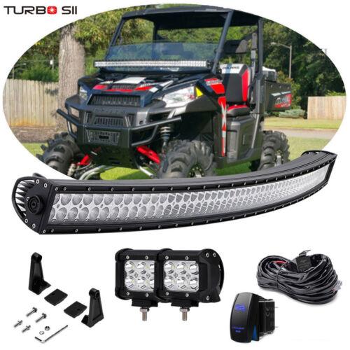 """50"""" Curved LED Light Bar w/Rocker Wiring Polaris Fullsize XP 900 1000 Ranger 570"""