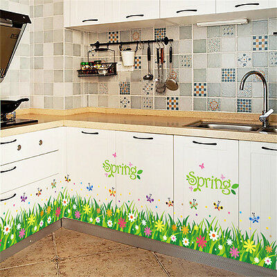 Spring Flower Line Home Decor Removable Wall Stickers Decal Decorations ()