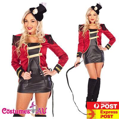 Ladies Magician Costume (Ladies Ringmaster Circus Lion Tamer Magician Costume Showgirl Fancy)