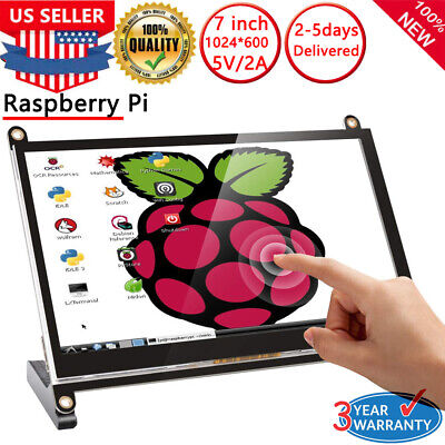2019 NEW 7 inch 1024x600 HDMI LCD Touch Screen Monitor For Raspberry Pi (Raspberry Pi 3 7 Inch Touch Screen)