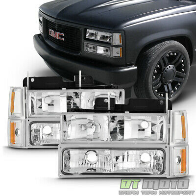 1994-1998 GMC C/K Sierra Yukon Suburban Headlights+Bumper Lights+Corner Lamps