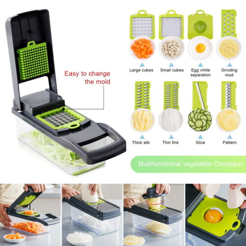8 in 1 Multifunction Vegetable Chopper Food Fruit Dicer Cutt