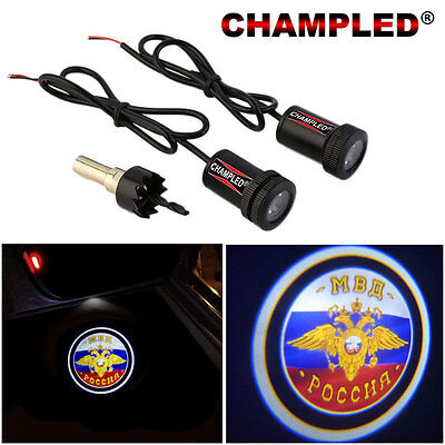 Champled For Mvd     Door Projector Logo Shadow Car Tuning Lights Emblem