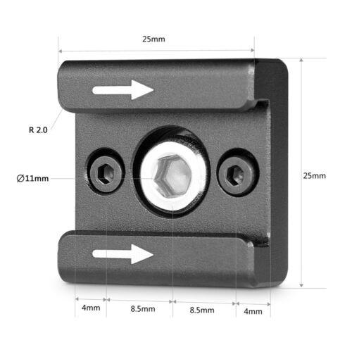 """SmallRig Universal cold shoe Blitzschuh mit 1/4"""" und M2.5 Gewinde Schraube 2060"""