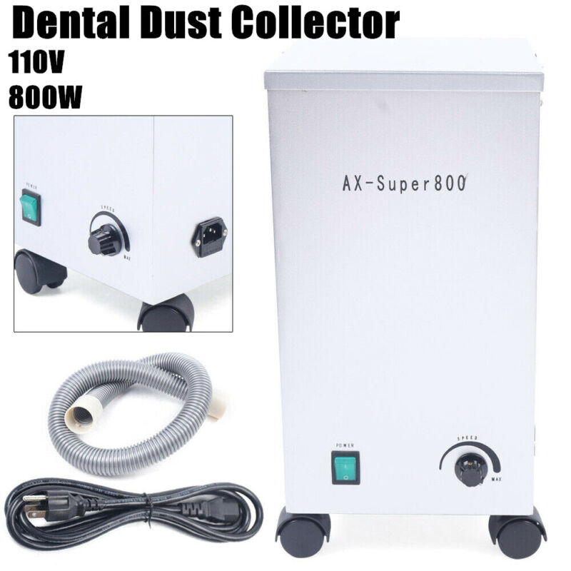 Dental Mobile Dust Collector Vacuum Cleaner Extractor Dust Removal Machine 110V