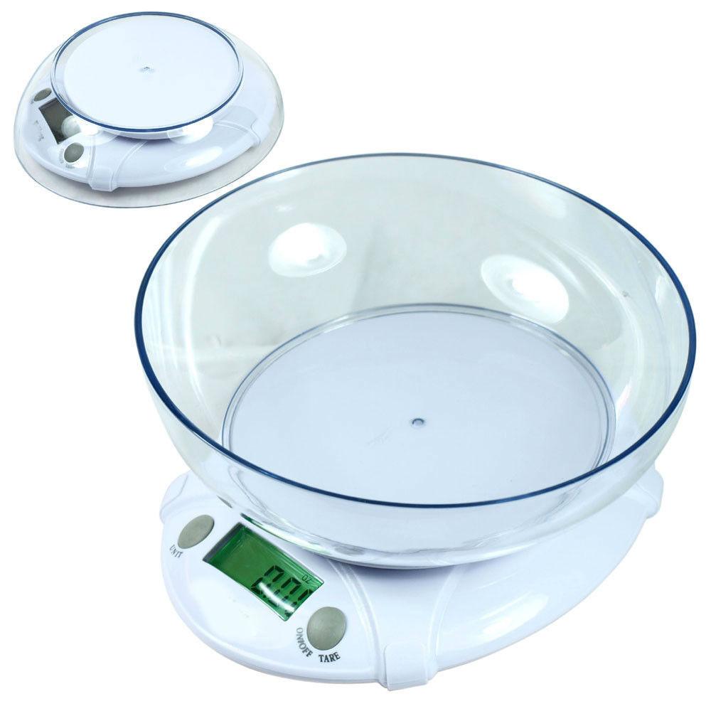 Digital Kitchen Scale 7Kg 15lbs x 1g Diet Bake Food Postal Scale w/ Bowl BH