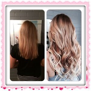 Russian Tape Hair Extensions Full head 20inch incl cut in $280 Clear Island Waters Gold Coast City Preview