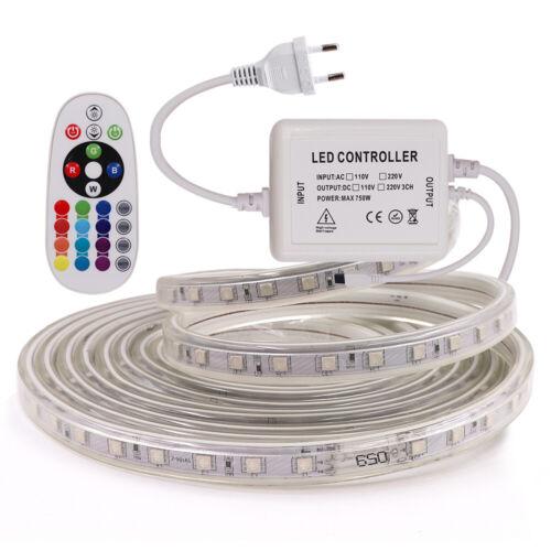 230V 3014 5050 LED Stripe Licht Streifen Lichterkette Wasserdicht Lichtband Band