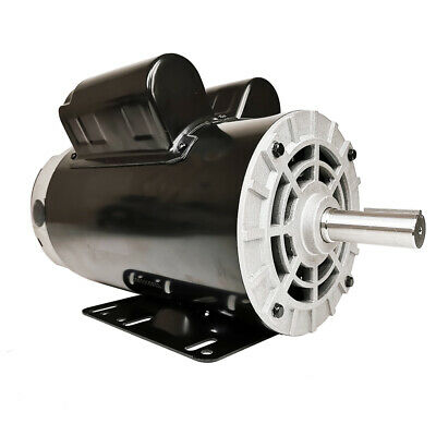 5hp Air Compressor Duty Electric Motor 22amp 3450 Rpm 56 Frame 78 Shaft 230v A