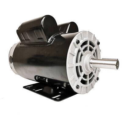 5hp Air Compressor Duty Electric Motor 22amp 3450 Rpm 56 Frame 78 Shaft 230v A