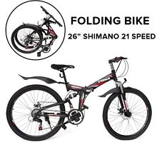 "26"" Folding Mountain Bicycle 21 Speed Shimano Foldable Bike Padstow Bankstown Area Preview"