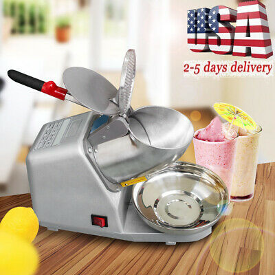 300w 132lbsh Electric Ice Shaver Crusher Machine Snow Cone Maker Shaved Ice Usa