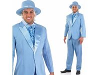 DUMB AND DUMBER FANCY DRESS OUTFIT BLUE SUIT SIZE M GREAT FOR PARTY OR STAG DO ALSO HAVE ORANGE SUIT