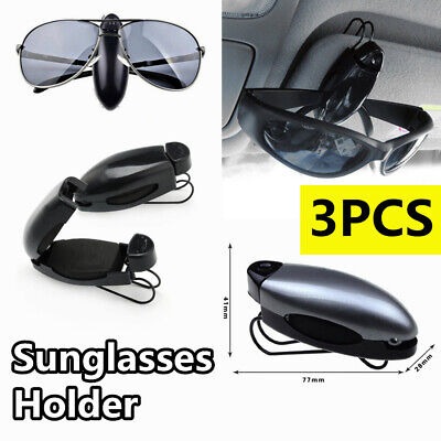 Universal Car Auto Sun Visor Glasses Card Ticket Sunglasses Clip Holder Black (Sunglass Visor Clips)
