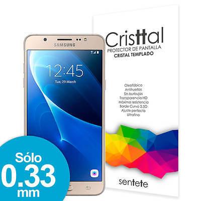 Sentete® Samsung Galaxy J7 (2016) Protector de Pantalla Cristal Templado PREMIUM