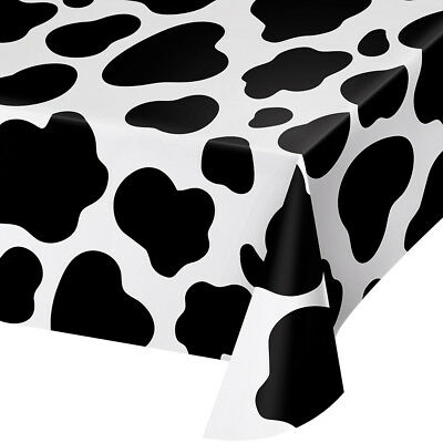 Cow Print Plastic Tablecloth (Bulk Cow Print Plastic Tablecloths,)