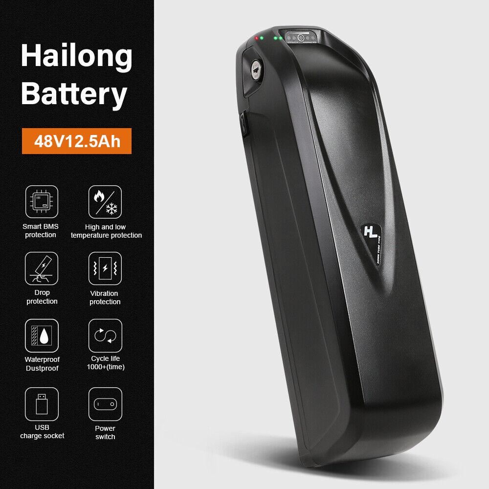YOSE POWER 48V 12.5Ah HaiLong Downtube Lithium Ebike Battery