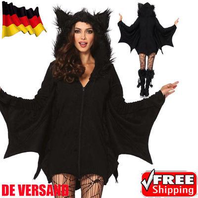 Damen Zauberin Kostüm Cosplay Fledermaus Vampir Karneval Party Damenkostüme DE
