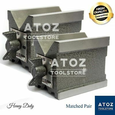 Precision Magnetic Vee Blocks Size 70x65x50mm V Block Matched Pair Heavy Atoz