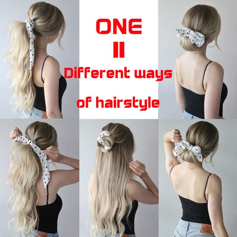 Boho Print Ponytail Scarf Elastic Hair Rope Ribbon Hair Band Hair Accessories