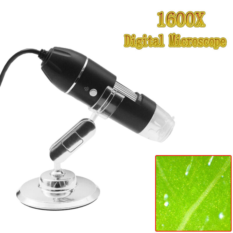 1600X 8LED 2MP USB Digital Microscope for Electronic Accessories Coin Inspection