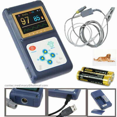 Cms60d Vet Veterinary Pulse Oximeter Spo2 Pr Monitor Ear Lobe Sensor Ce Fda