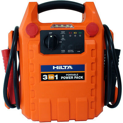 Portable Car Battery Power Booster Jump Start Starter Rescue Pack 1800 HILTA9160