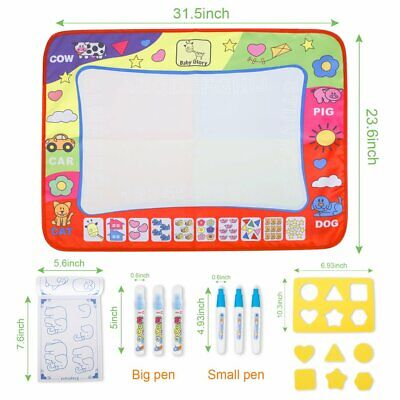 Large Aqua Magic Water Drawing Painting doodle Mat Pad with 2 Water Pen Toy