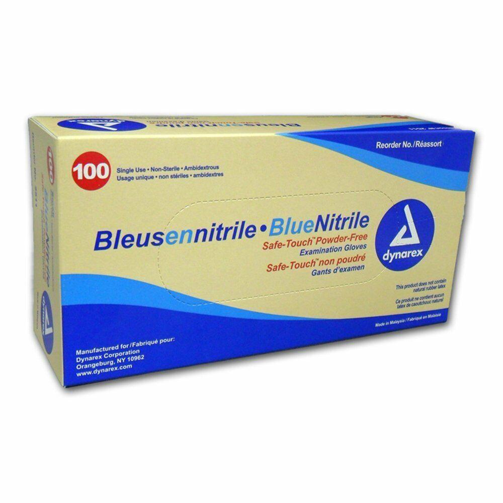 Nitrile Exam Gloves Powder Free Blue 100/BX-250/BX