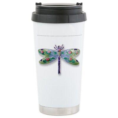 CafePress Dragon Fly Stainless Steel Travel Mug Stainless Mug (399437799)