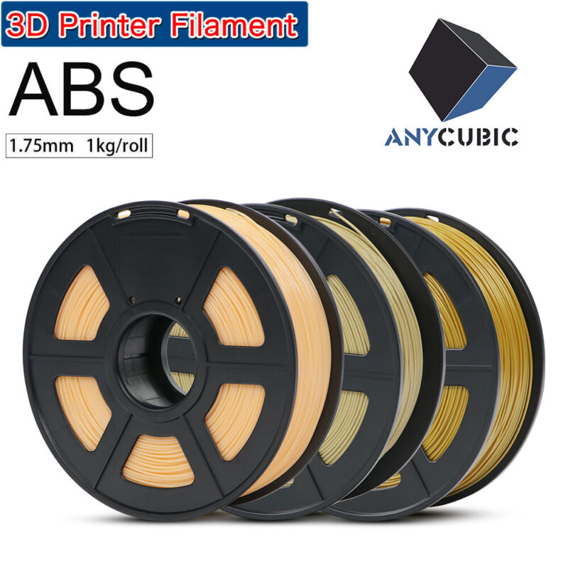 US Stock ANYCUBIC 1.75mm ABS Filament 1KG / 2.2lb Spool for 3D Printer Printing