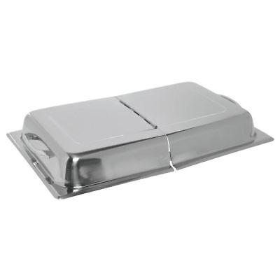 Hubert Full Size Steam Table Pan Cover 24 Gauge Stainless Steel Hinged