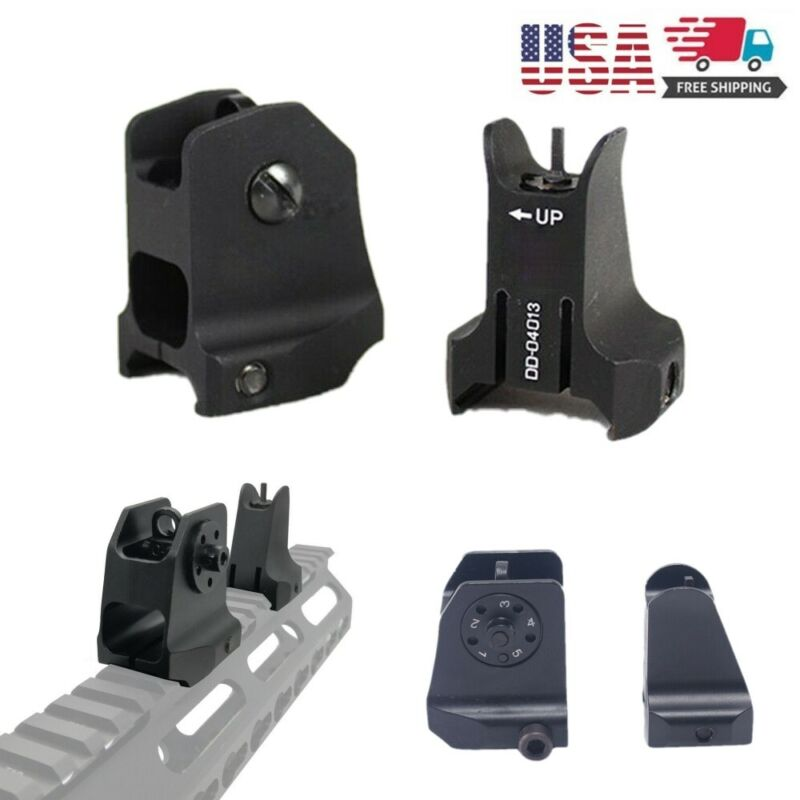 1 Pair Tactical Fixed Front Rear Iron Sight Set For DD Rapid Backup Hunting US