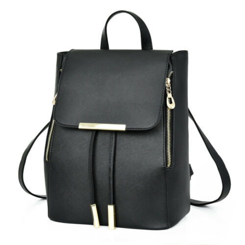 Women Lady Girls Leather Backpack Shoulder School Bag Handba